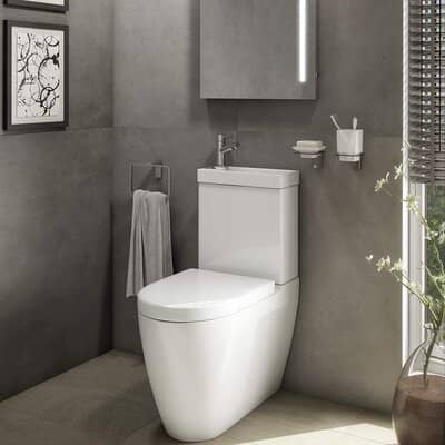 Affine 2 in 1 Toilet Basin Combo