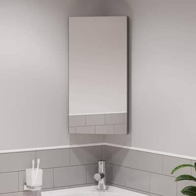 Artis Wall Mounted Single Mirror Door Corner Bathroom Cabinet