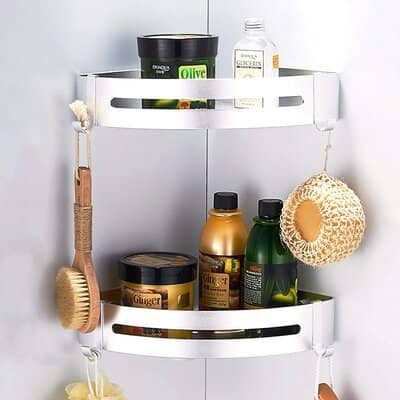 CROSOFMI Shower Shelf Rustproof Corner Shower Caddy