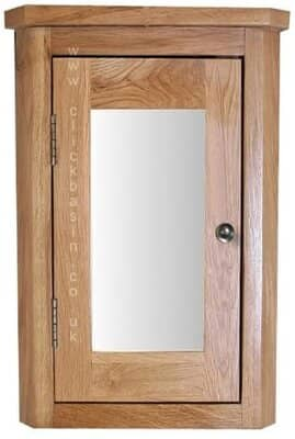Clickbasin Solid Oak Wall Mounted Mirror Cabinet