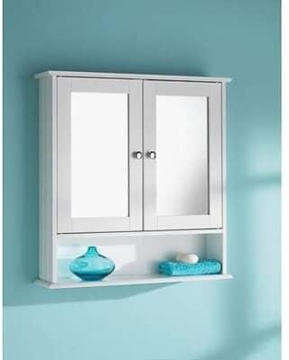 Double Door White Colour Cabinet