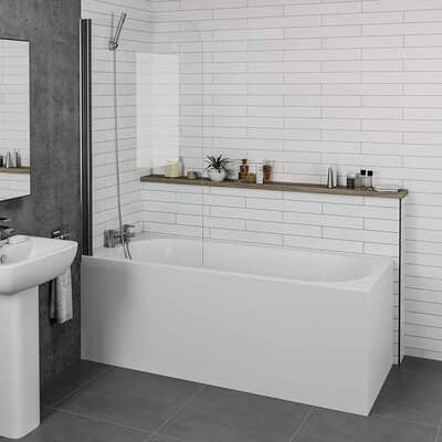 Modern Bathroom Single Ended Straight Bath