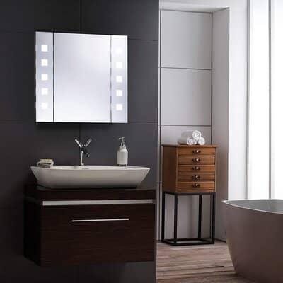 Neue Design LED Illuminated Bathroom Mirror Cabinet