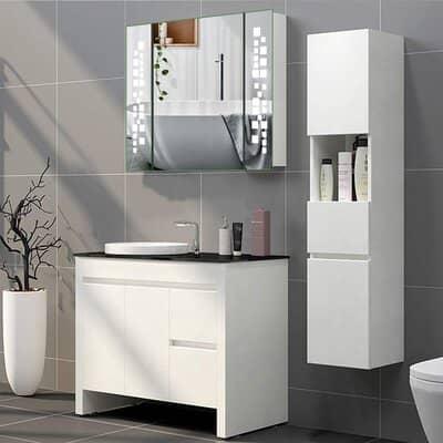 Warmiehomy LED Bathroom Mirror Cabinet