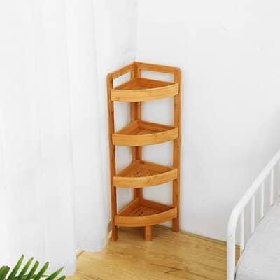 Woodluv Freestanding 4 Tier Corner Unit