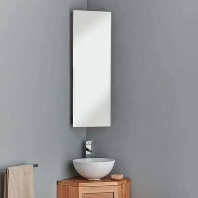 clickbasin Corner Mirror Bathroom Cabinet