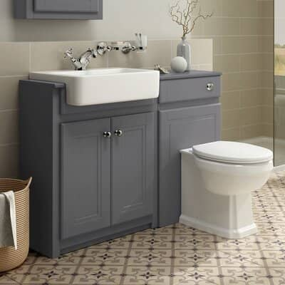 iBathUK Combined Vanity Unit Toilet Basin