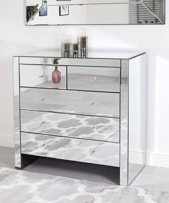 Abreo Venetian Mirror Chest of Drawers