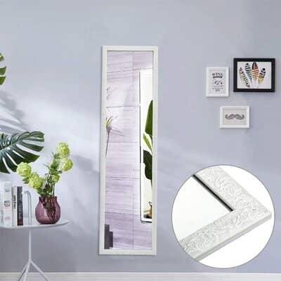 Beauty4U White Full Length Mirror
