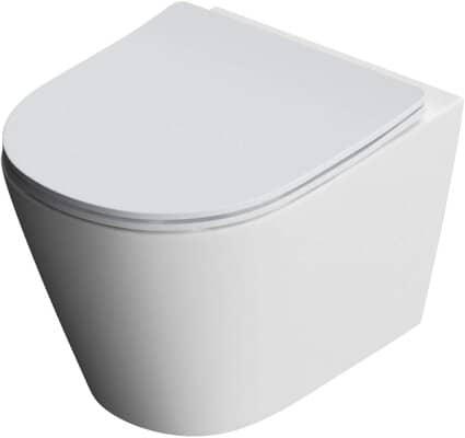 Durovin Bathrooms Ceramic Open Flush Rim Wall Hung Toilet