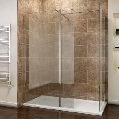 ELEGANT 1200 x 800mm Walk In Shower Enclosures