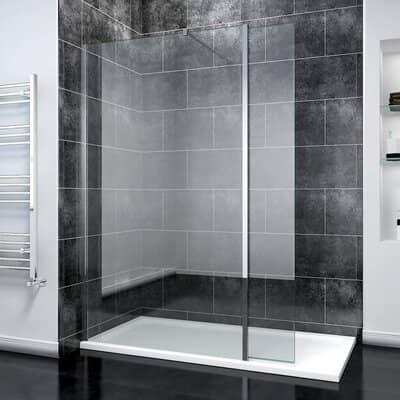 ELEGANT 800mm Frameless Wet Room Shower