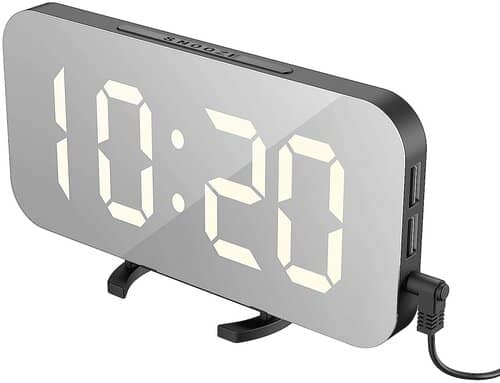 EXTSUD LED Mirror Alarm Clock