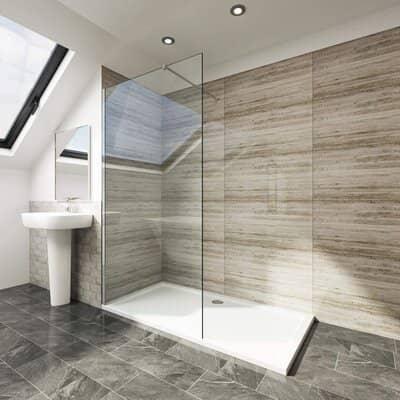 Elegant 700mm Walk-in Shower