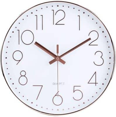 Jomparis Modern Silent Non ticking Wall Clock