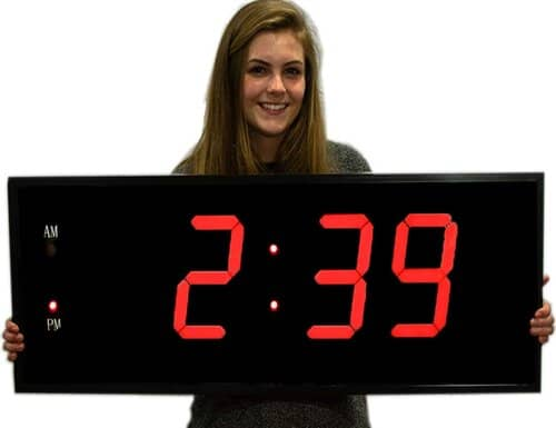 Large Digital LED Clock