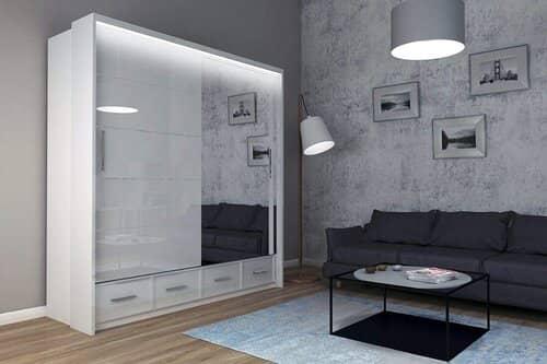MN Furniture High Gloss & Mirror Sliding Doors
