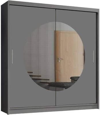 MN Furniture Moon Double Mirror Sliding Door