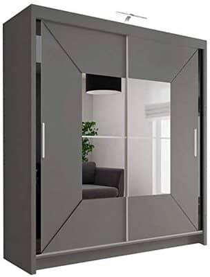 Modern Double Sliding Door Wardrobe