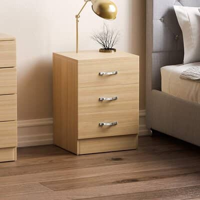 Vida Designs Pine Bedside Cabinet Chest of Drawers