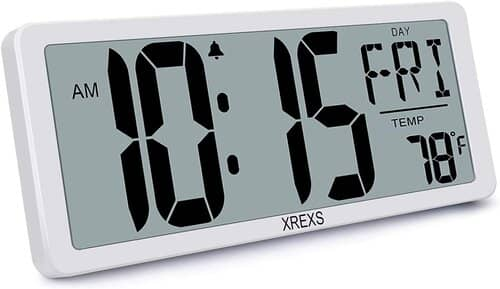 XREXS Large Wall Clock Digital