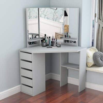 LEPAK Girls Corner Dressing Table