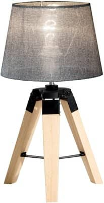 HOMCOM Wooden Tripod Table Lamp