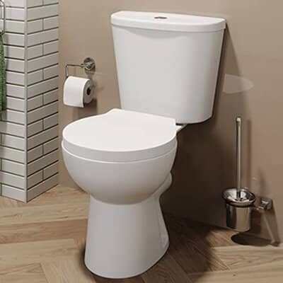 Affine Bathroom Close Coupled Curved Toilet