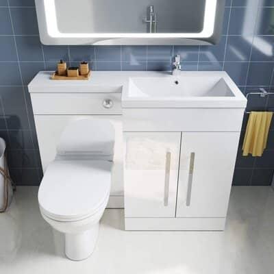 ELEGANT 1100mm Vanity Unit & Back to Wall Toilet