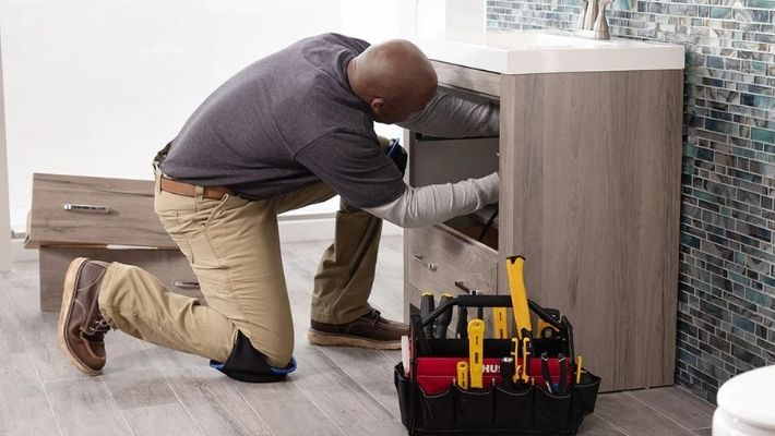 How To Install A Bathroom Cabinet Vanity